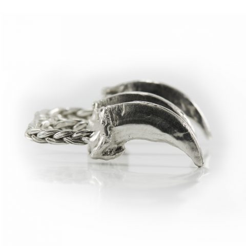 Wolf claw ring silver
