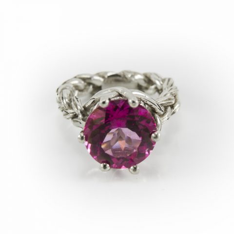 Pink engagement ring